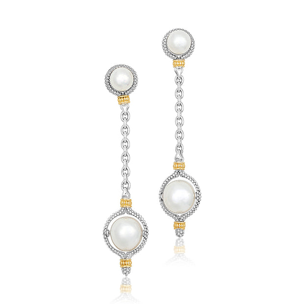 Luna Collection Earrings with Pearls
