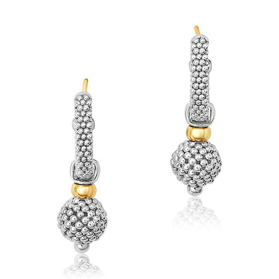 Sterling Silver Caviar Forever Collection Earrings
