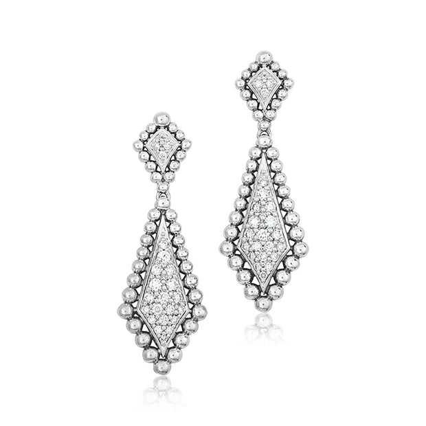Caviar Spark Collection Drop Earrings