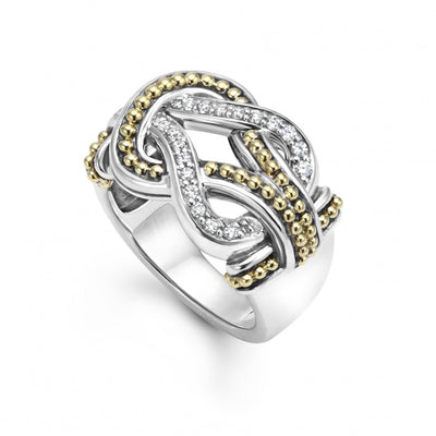 Sterling Silver and 18K Yellow Gold Newport Collection Diamond Ring