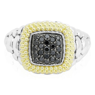 Sterling Silver Diamond Lux Collection Black Diamond