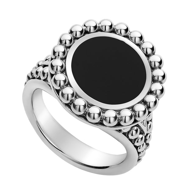 Sterling Silver Maya Collection Onyx Ring