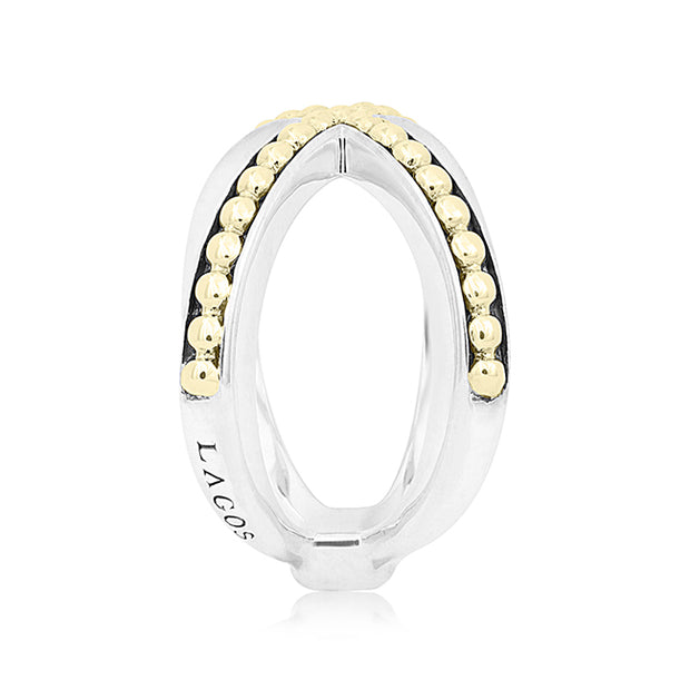 18K Yellow Gold and Sterling Silver Infinity Collection Ring