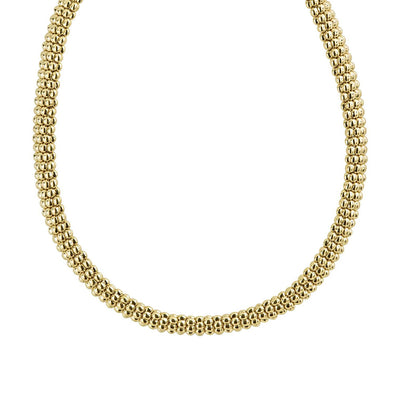 18K Yellow Gold Caviar Collection Rope Necklace