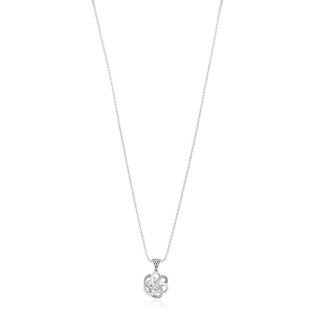 Sterling Silver Love Knot Collection Necklace