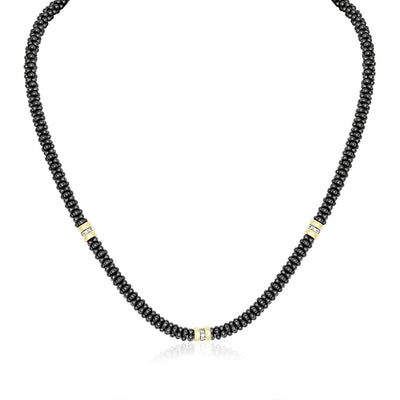 LAGOS Black Caviar Collection Necklace with Diamonds