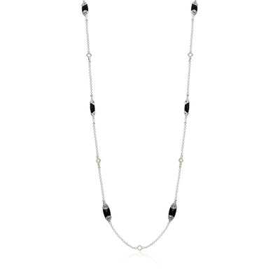 Sterling Silver Black Onyx Necklace