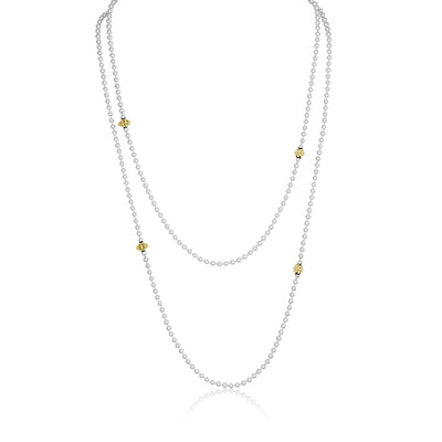 Sterling Silver and Yellow Gold Necklace