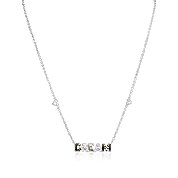 Yellow Gold Diamond DREAM Necklace