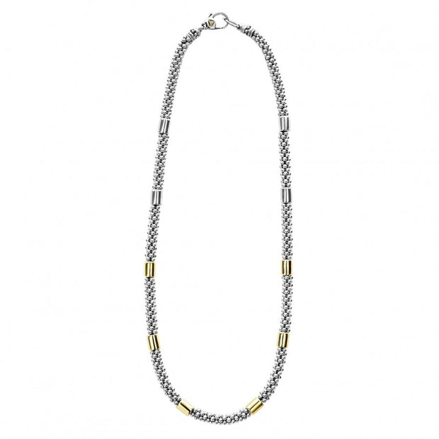 Sterling Silver and 18K Yellow Gold The Gold Caviar Collection Necklace