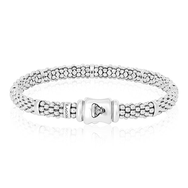 Sterling Silver Caviar Collection Bracelet