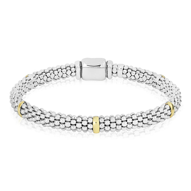 Sterling Silver Caviar Collection Beaded Bracelet