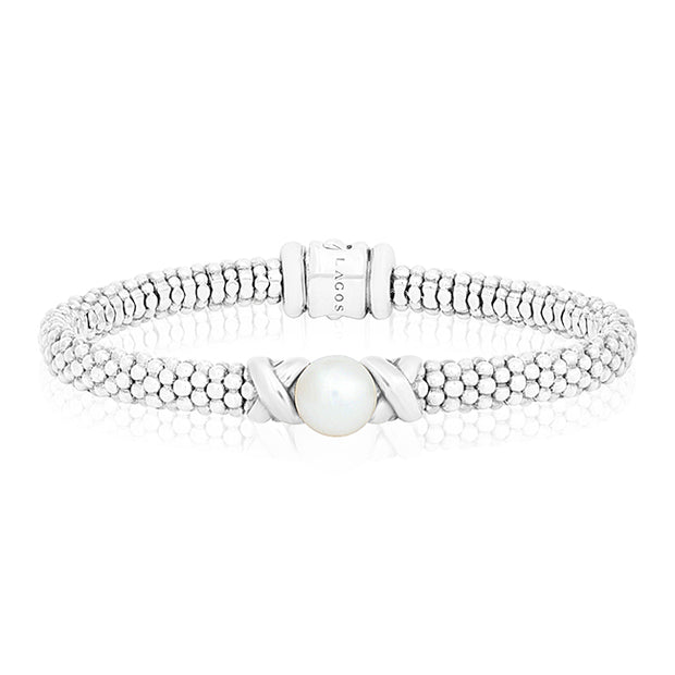 LAGOS Sterling Silver Luna Collection Pearl Bracelet