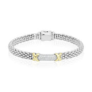 Sterling Silver Diamond Lux Collection Rope Bracelet