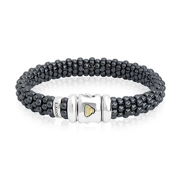 Sterling Silver Black Caviar Collection Bracelet