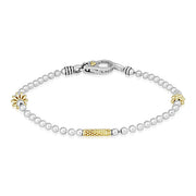 Sterling Silver Caviar Icon Collection Bracelet