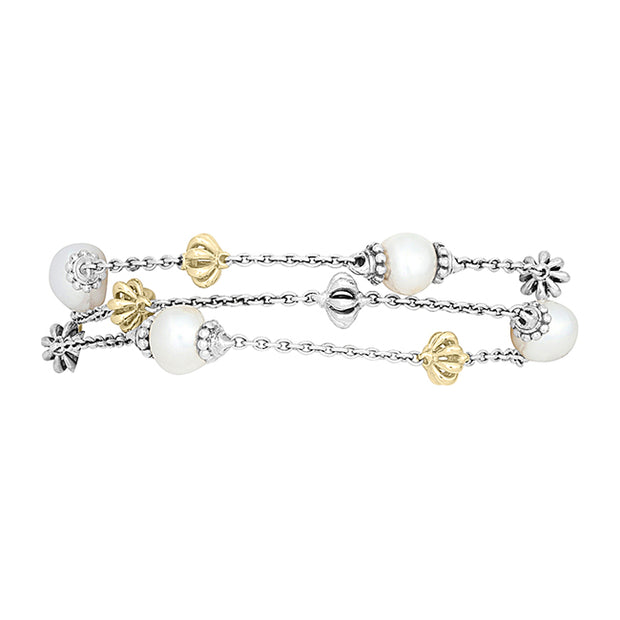 Lagos Sterling and 18K Yellow Gold Luna Collection Bracelet