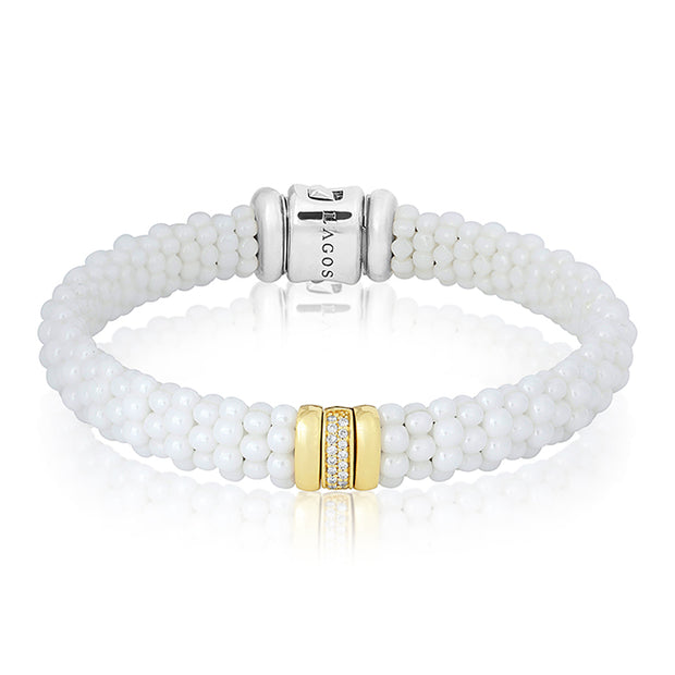 LAGOS White Caviar Collection Bracelet with Diamonds