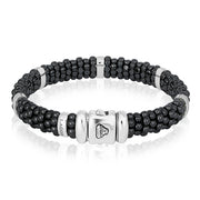 Black Caviar Collection Ceramic Bracelet with Diamonds
