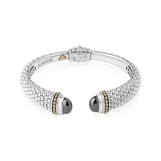 Sterling Silver Caviar Color Collection Hematite Bracelet