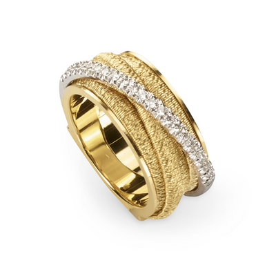 18K Yellow and White Gold Il Cairo Collection Diamond Ring