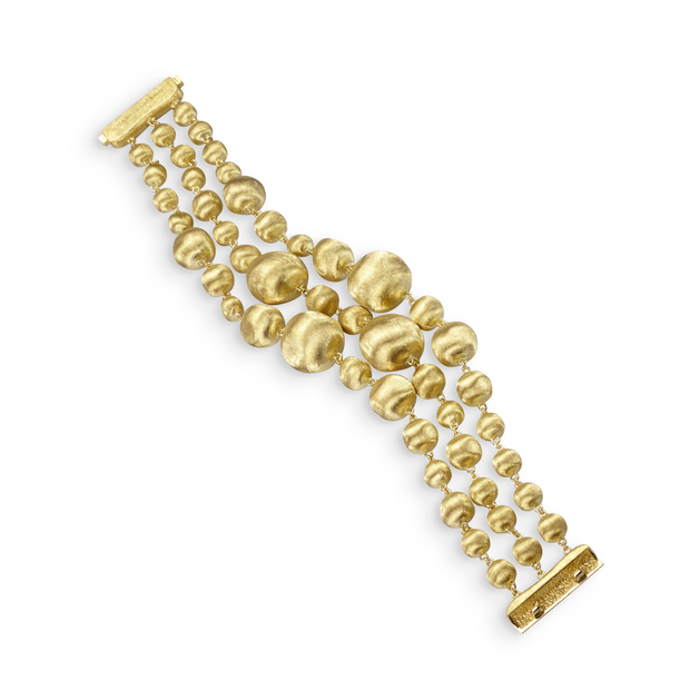 18K Yellow Gold Africa Collection Engraved Bracelet