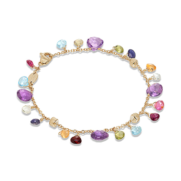 18K Yellow Gold Paradise Collection Color Stone Bracelet