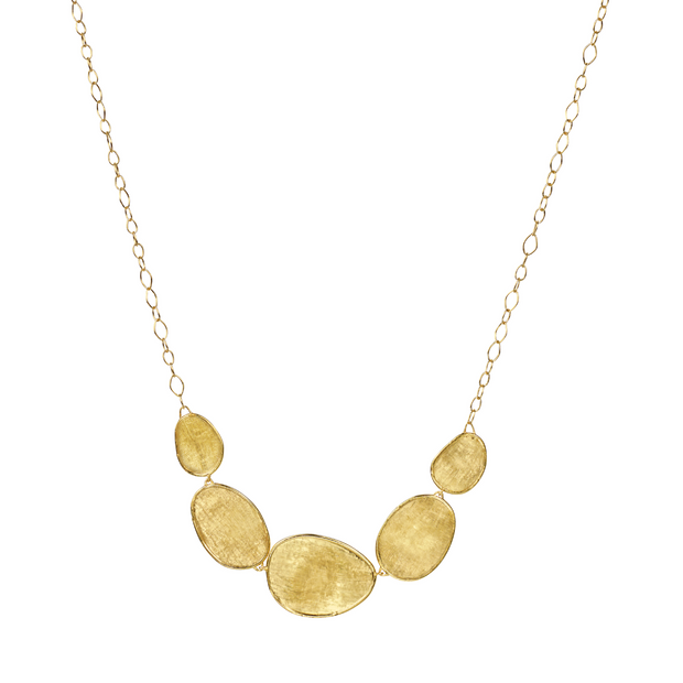 18K Yellow Gold Lunaria Collection Station Link Necklace