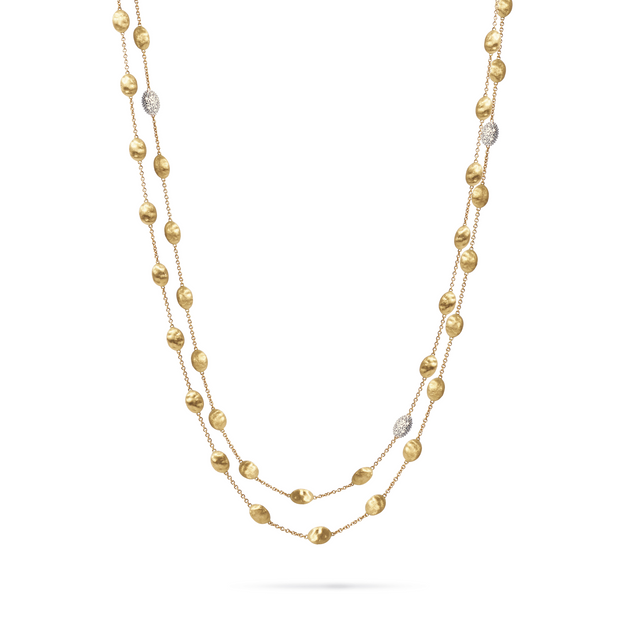 18K Yellow and White Gold Siviglia Collection Diamond Necklace