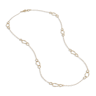 18K Yellow Gold Marrakech Onde Collection Oval Link Necklace