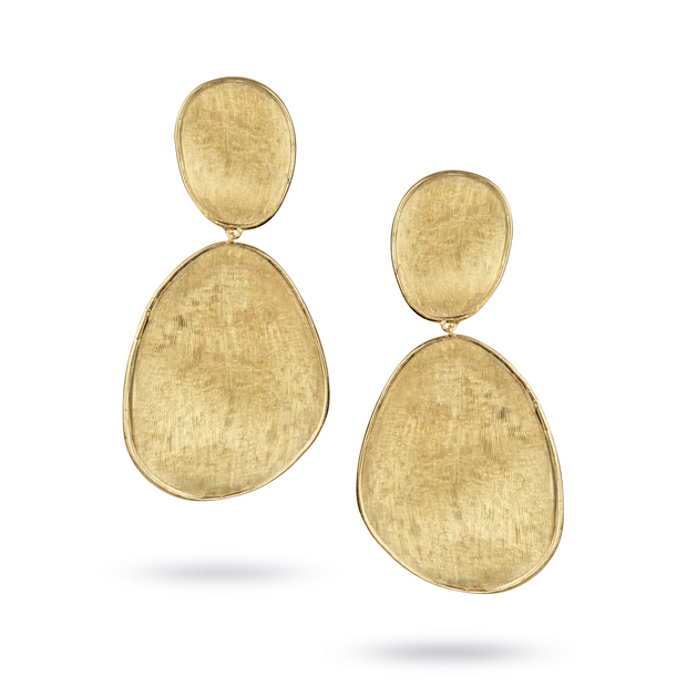 18K Yellow Gold Lunaria Collection Earrings - TIVOL
