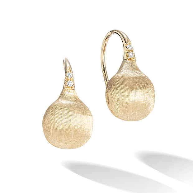 18K Yellow Gold Africa Collection Diamond Drop Earrings