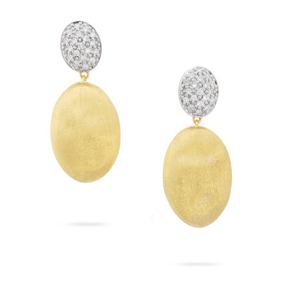 18K Yellow and White Gold Siviglia Grande Collection Diamond Earrings