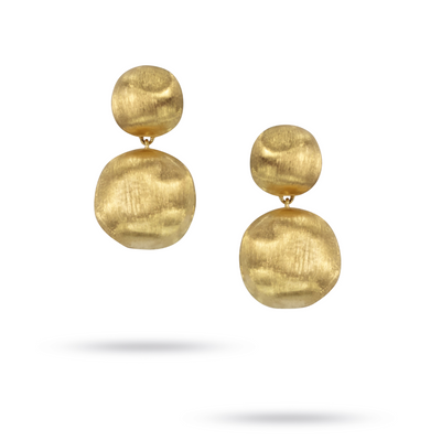 18K Yellow Gold Africa Collection Drop Earrings