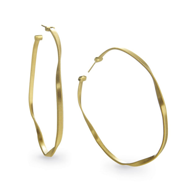 18K White Gold Marrakech Collection Hoop Earrings