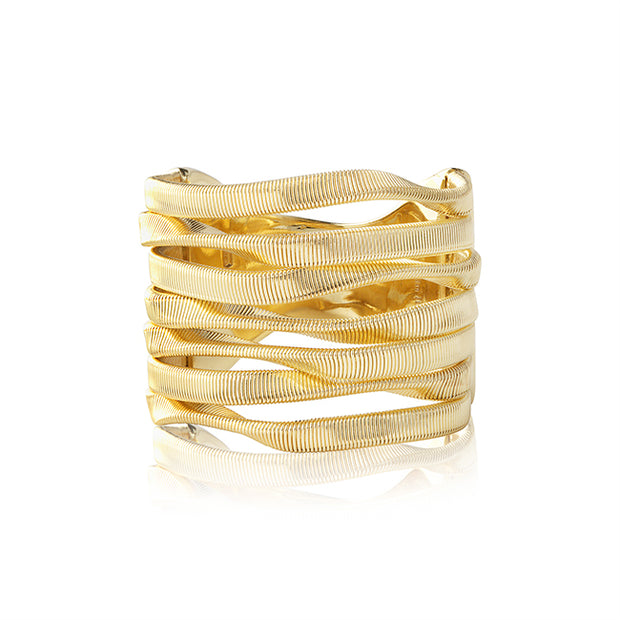 18K Yellow Gold Marrakech Collection Twisted Row Ring