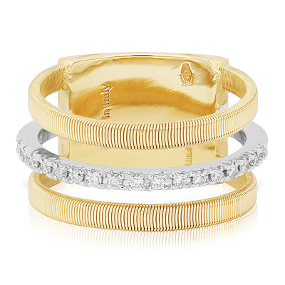 18K Yellow And White Gold Masai Collection Diamond Ring