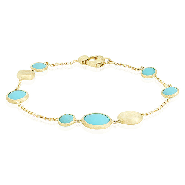 18K Yellow Gold Jaipur Collection Turquoise Bracelet