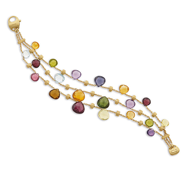 18K Yellow Gold Paradise Collection Mixed Stone Bracelet