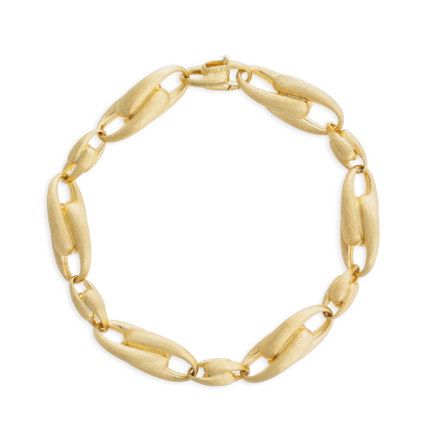 18K Yellow Gold Lucia Collection Large Alternating Link Bracelet