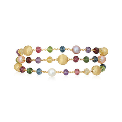 18K Yellow Gold Pearl Mixed Bead Bracelet