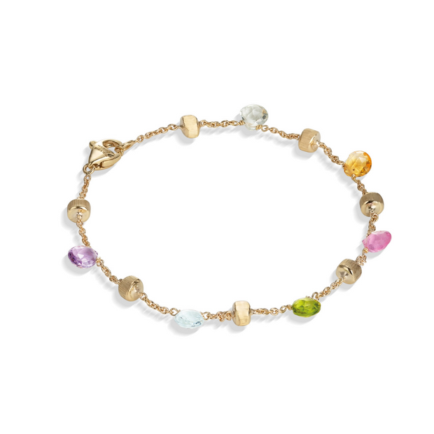 18K Yellow Gold Paradise Collection Mix Stone Bracelet