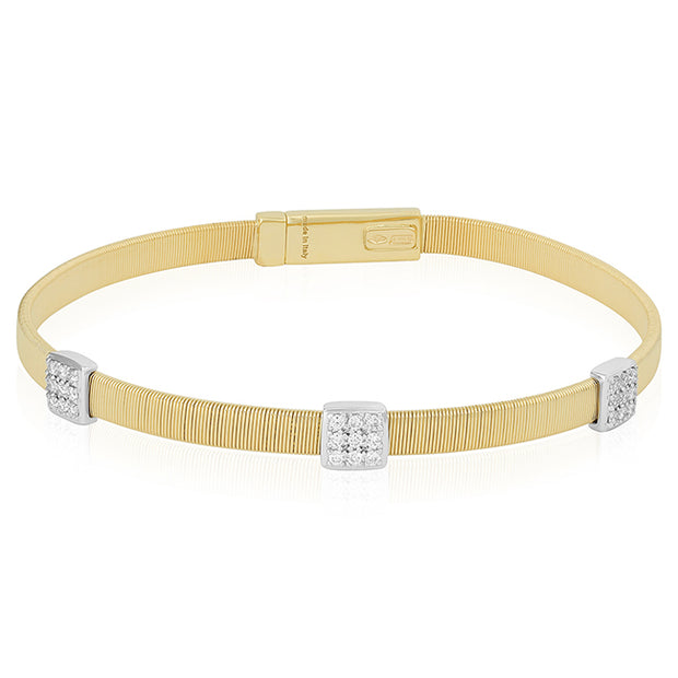 18K Yellow Gold Masai Collection Bracelet With Diamonds