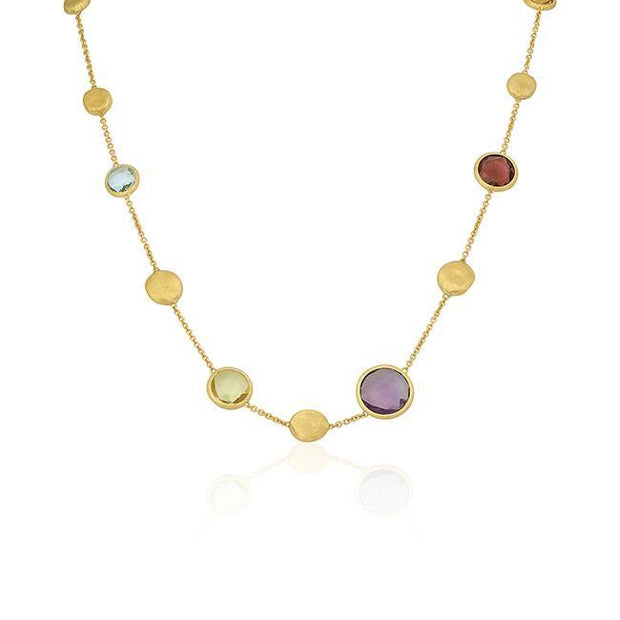 18K Yellow Gold Jaipur Collection Mixed Stone Necklace