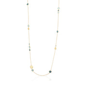 18K Yellow Gold Jaipur Collection Blue Topaz Necklace