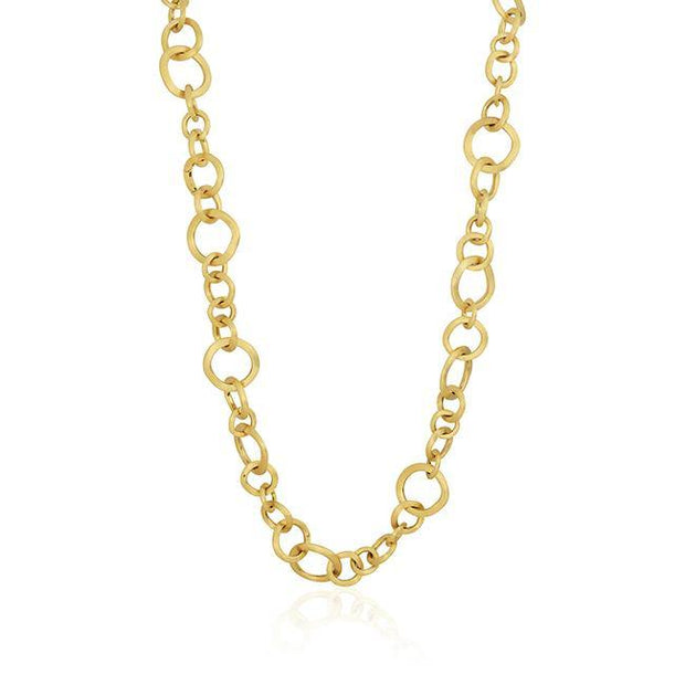 18K Yellow Gold Jaipur Collection Open Circle Necklace