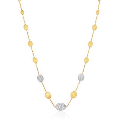 18K Yellow Gold  Siviglia Collection Necklace With Diamonds