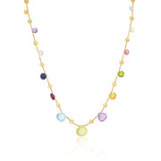 18K Yellow Gold Paradise Collection Mixed Stone Necklace