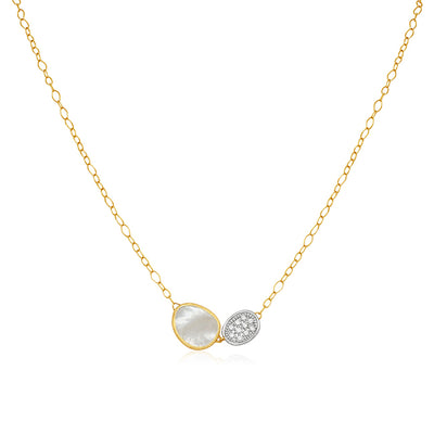 18K Yellow Gold Lunaria Collection Necklace