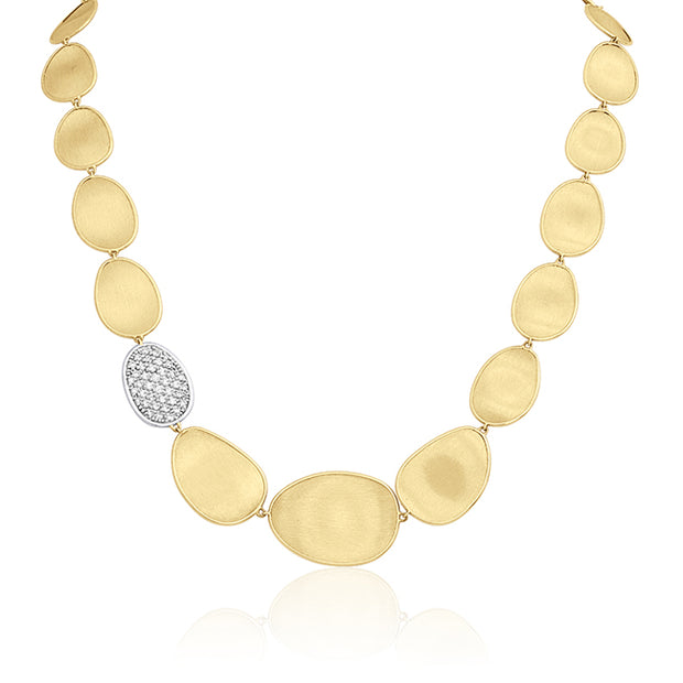 18K Yellow Gold Lunaria Collection Diamond Necklace